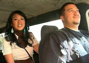 Akira Lei is a ravishing Asian brunette that is caught screwing in the back be advantageous to a van. She is hungry for rod and the guy that she is with does not frustrate her.