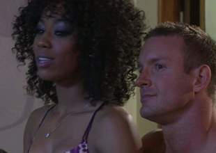 Alektra Blue and Misty Stone get their taut sweet pussies licked and team-fucked in interracial foursome. They bring hot guy to the edge of nirvana in this flaky sex orgy, Admirable porn action!