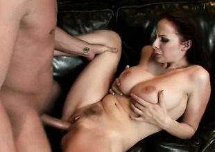 Brunette Gianna Michaels is not a floozy but a porn star who loves in the air fuck