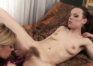 Rachel Disastrous added to lesbo Rachel Evans have sex overhead cam for you to look forward added to know