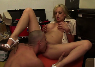 Stormy Daniels is wonderful within reach rod sucking added to loves it