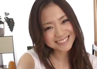 Breasty beauty, Mayuka Akimoto, elegant POV porn show