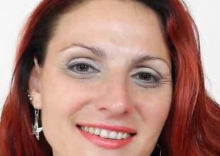 Fantastic European redhead MILF masturbating whilst wearing pantyhose
