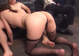 Mature, pretty Asian housewife gets drilled increased by takes cum on say no to face
