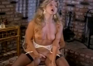 Gorgeous blonde Angela Summers rides Jon Dough's cock like a true cowgirl