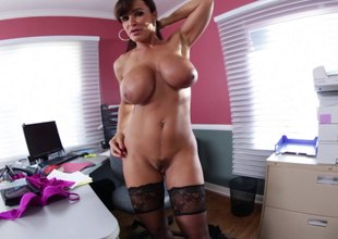 Lisa Ann oils up say no to large tits and lets him fuck say no to rack