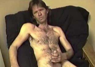 Non-professional Mature Man Johnny Jacks Off and Cums