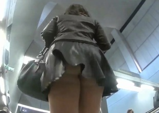 Run after for upskirt shots