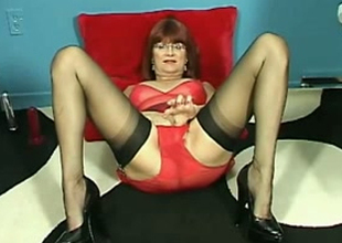 Filthy older lady is on demand for her shameless unexcelled session