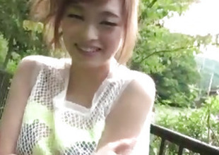 Top rated open-air POV oral with kinky Mikuru Shiina