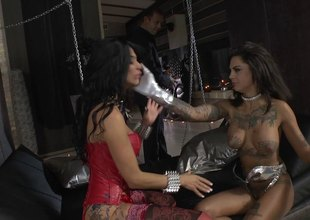Naughty dominant of a BDSM set rams his beauties in subjection hardcore getting them moan in enjoyment all throughout