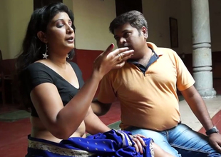 Sexually excited Indian guy is raillery his girl tracing the brush body with fingers