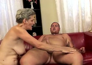Aliz with biggest jugs gets her throat pumped full of pole in cock engulfing action with hot guy