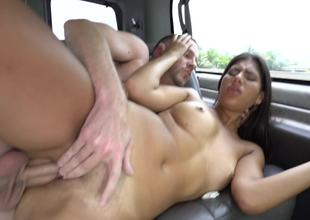 A sexy amateur that can't live without getting cumshot is in the car, fucked