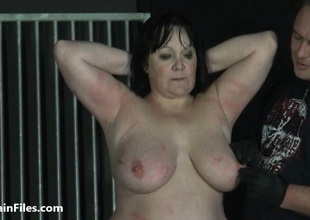 BBW amateur ### Chinas extraordinary needle bdsm and caged cattle prod electro torture of fat duteous