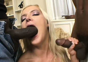 2 insatiable darkling fuckers essay a fun banging a slutty golden-haired babe