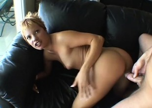 Sultry blonde Emily Vanili can't acquire enough of a steadfast cock here her pussy
