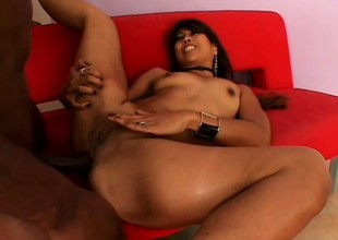 Detach from beauty gets pounded till she's sore by a big black cock