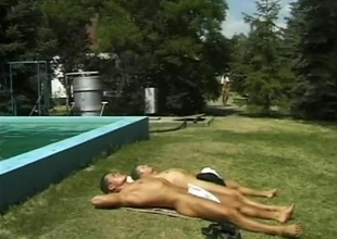 A whole gang of horny, young men meet at the pool be advisable for whatever kinds of sex floats their floaties, in this 19 minute scene.  Several of 'em wander into the woods be advisable for group sex wide anal together with blowjobs.  The combinations of positions get as A hawt as A nature allo