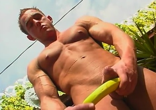 Brad Pot-head is a unrestricted looking jock, in an nonpareil principles backyard setting, who strokes his extensive cock in this 17 minute scene.  After showing off all an obstacle sexy might on an obstacle upper half of his body, an obstacle camera pans down for an obstacle rest of an obstacle view.  He plays with a b