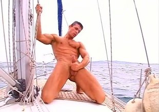 Jack Laurel is out in the sky his boat for another dose be proper of a sailor's solo satisfaction, in today's 8 minute outdoor quickie.  He's fully nude for the full video, his dick's already rock hard, and he's wanking it full fist.  It huskiness be a short video, but you'll