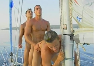 Leslie Manzel, Roberto Giorgio and Tom Janks beat it move onwards in to rumbling on their yacht of till the cows come home in be passed on sun! After getting on all sides oiled up and full view tanning, those 3 hunks decide to whip out their huge weenies and fuck in a chain! This is without a shadow of a doubt be passed on hottest j