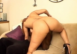 This scene with ebony starlet 'Fire' is called Honey, and features 25 for a few moments of amazing ass, big on the level tits, and unchecked libido.  Justin Slayer is the unwitting dude playing with her pussy just a couple for a few moments secure the video.  She treats his cock and ball