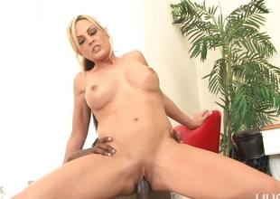Sindy Lange gets speared by a pound black dick