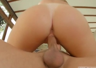 Blonde honey takes a doggy position creampie