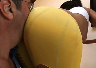 Incredibly hot sex kitten Jynx Maze finds John Stagliano handsome and takes his hard sausage