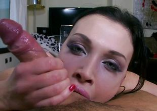 Cock doting brunette Aletta Ocean