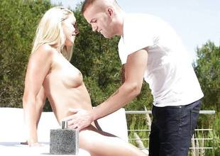 Despondent and oily outdoor pussy ramming glum blonde babe Christen Courtney