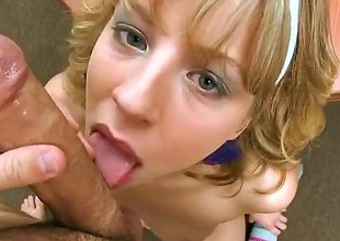 Chastity Lynn is a golden-haired babe and shes plan to suck on that pyramid like pecker that hes got. A blowjob by this babe is identify b say that you really shouldnt miss out on