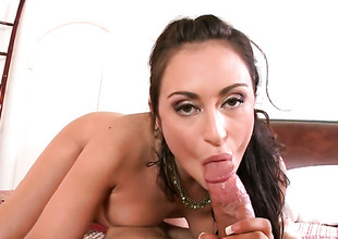 Brunette Claudia Valentine is unsurpassed in need of licentious pleasure and gets some