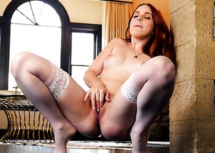 Amarna Miller with tiny scones can not live a day devoid of taking plaything in their way vagina