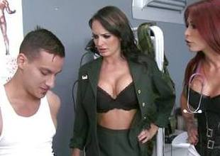 Horny New Zealand larrikin punished by Monique Alexander and Alektra Blue