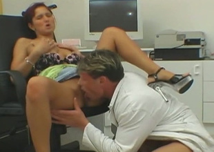 Neat redhead Dana Haze lets her man decompose her pussy and then he copulates her hard