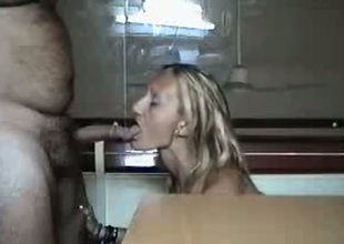 Unfortunate slut blows her hookup buddy's cock like a VIP slut