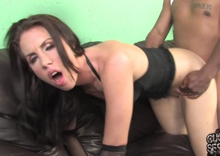 Maggie Matthews sucks a BBC and takes it in the brush cunt in cuckold episode