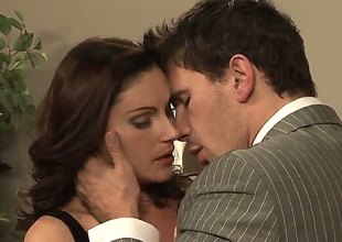 Brunette Samantha Ryan finds Manuel Ferrara handsome plus takes his immutable cock in her brashness