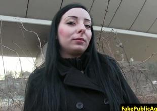 Czech chick cumswallows fake agents flask
