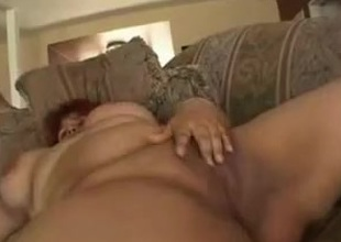 Fat BBW Latin chick GF with plump shaven cookie loves alongside fuck