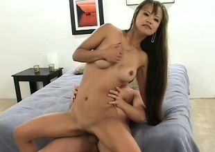 Little Mia Smiles chokes down 2 dicks and receives split roasted in a trio