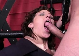 Wicked secretary gets taken to someone's skin dungeon and analized by her master