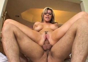 Slutty blonde Gia Paloma acquires pumped by two and acquires a wicked DP