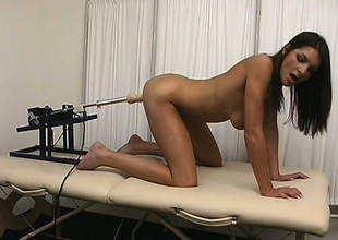 Doc uses his kinkiest devices on a frigid patient and makes her cum