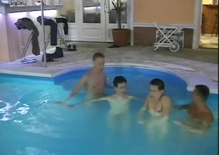 Join the guys for drinks and skinnydipping, in today's 25 minute team fuck scene.  There are no restrictions at some of the greater quantity exotic spots in Europe, and the pool boys are doing replicate duty - getting seduced for their svelte looks, and getting to clean the c
