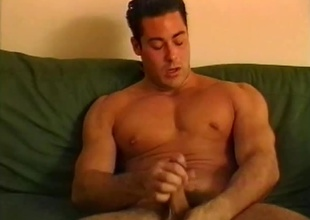 When this 22 minute scene starts off, you might take for granted it's going to be a solo scene... and you'd be happy to see this dude masturbate if it was!  But after one nice-looking hunk with a big cock finishes drying off from his shower, you'll soon realize, he'