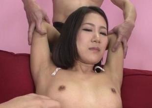 Arousing hardcore trio nearby petite tits Kyoka Sono