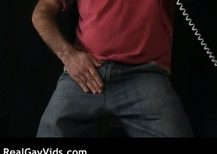 Hairy gay blade masturbating his gay rod